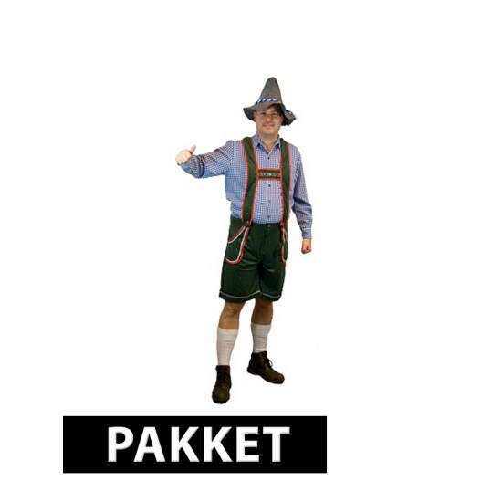 Pakket Oktoberfest kleding maat 3XL met accessoires heren