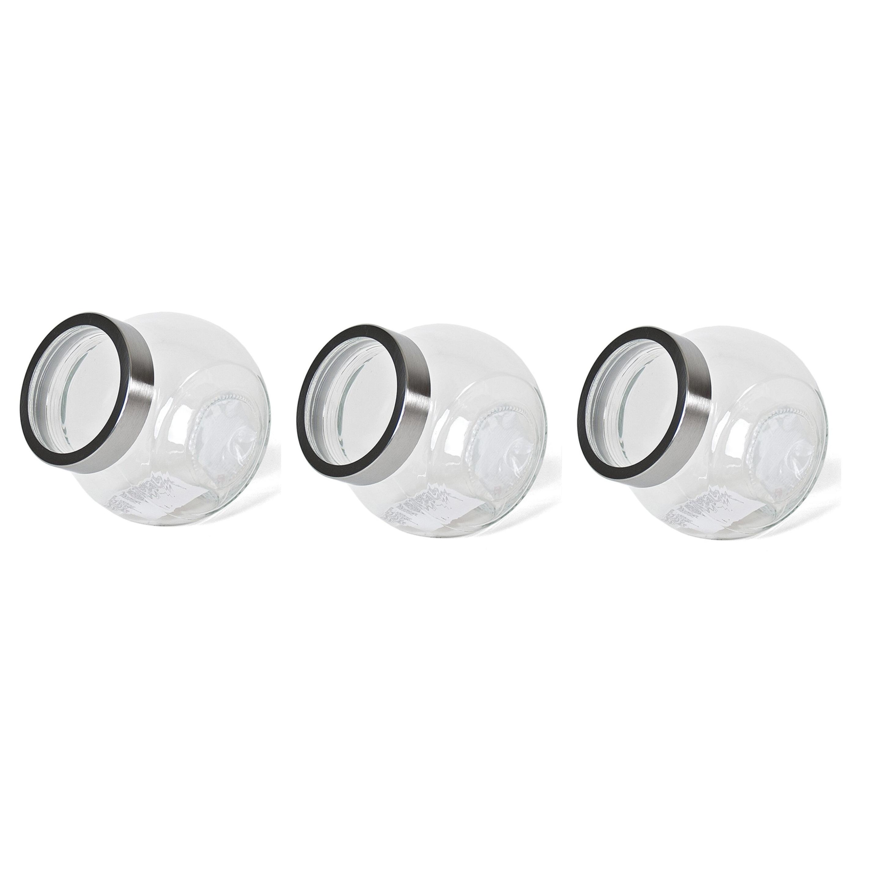 Pakket van 6x stuks transparante snoeppotten/voorraadpotten van glas 2200 ml