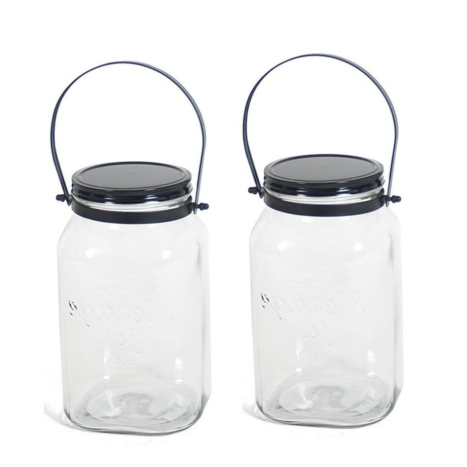 Pakket van 8x transparante bewaarpotten/voorraadpotten met schroefdop van glas 4,5 liter