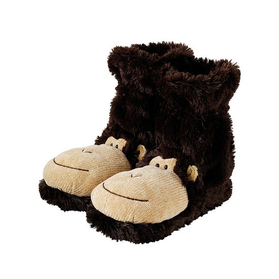 Pantoffel sokken aap Bruin