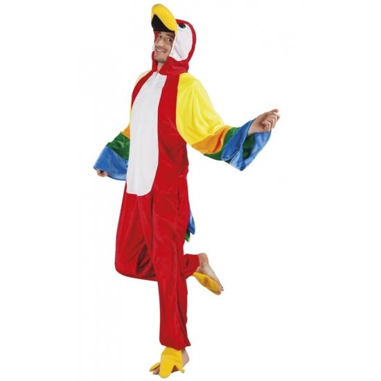 Papegaai dieren kostuum voor heren