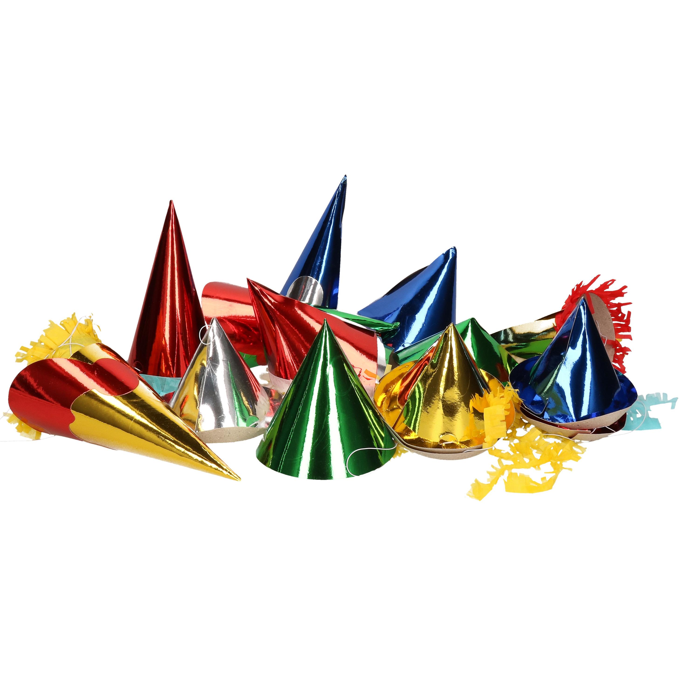 Papieren feesthoedjes 50 stuks voor kids