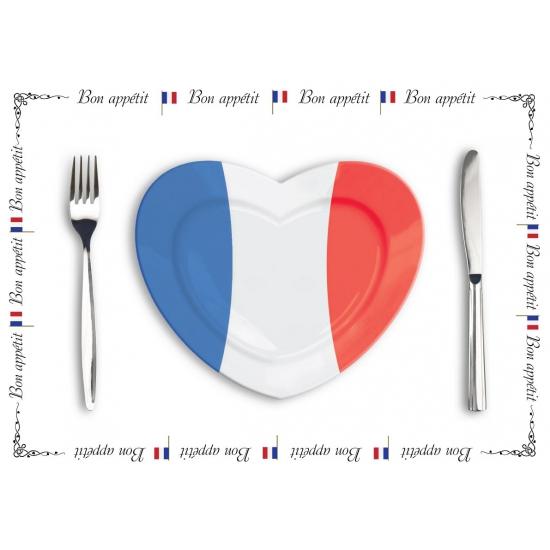Papieren placemats Frankrijk 500 stuks