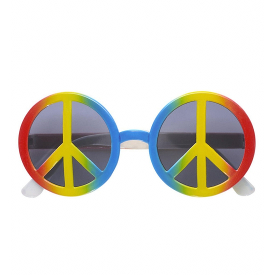 Peace Hippie verkleed zonnebril