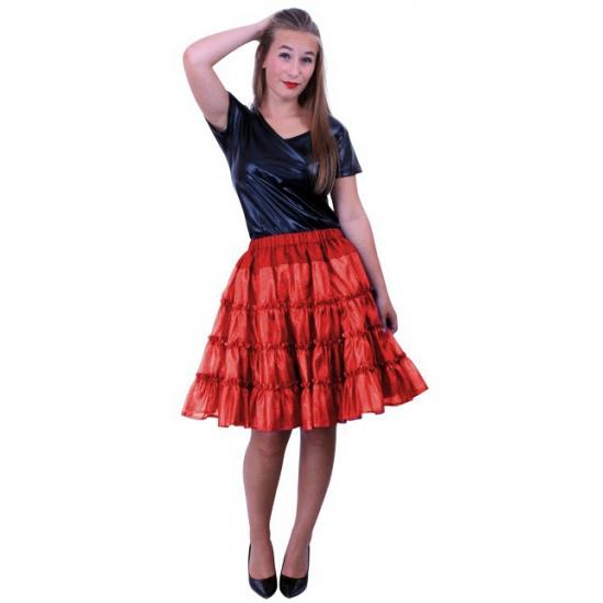 Petticoat 5-laags rood