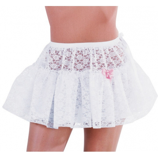 Petticoat/tutu wit kant voor dames