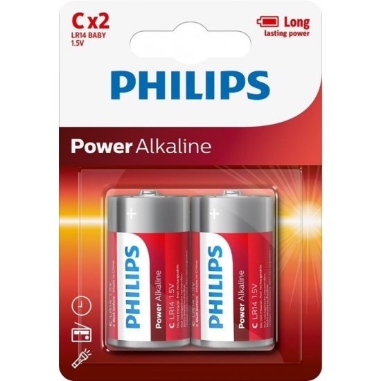 Philips LR14 C batterijen 2 stuks