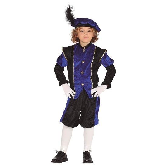 Pieten verkleed kostuum zwart/blauw voor jongens/meisjes