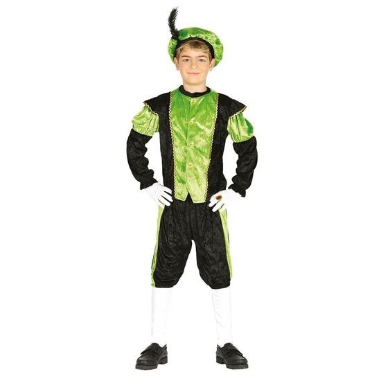 Pieten verkleed kostuum zwart/groen voor jongens/meisjes