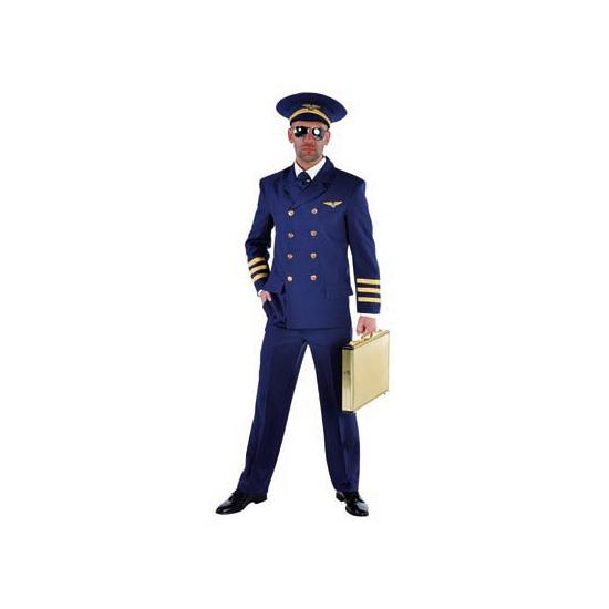 Piloten kostuum voor heren