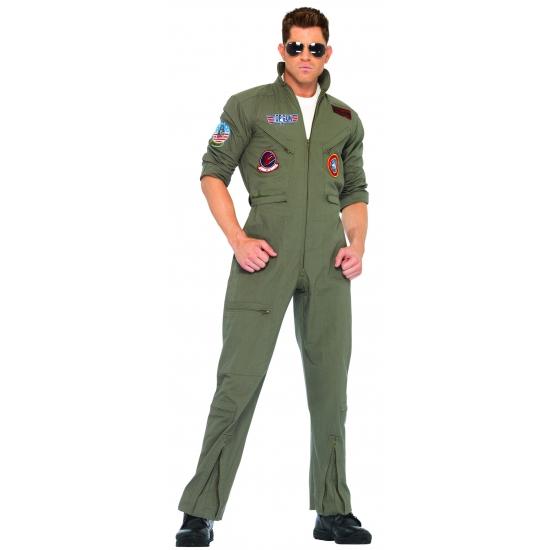 Piloten pak verkleed kostuum voor heren