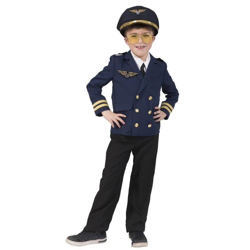 Piloten verkleed jasje voor kinderen