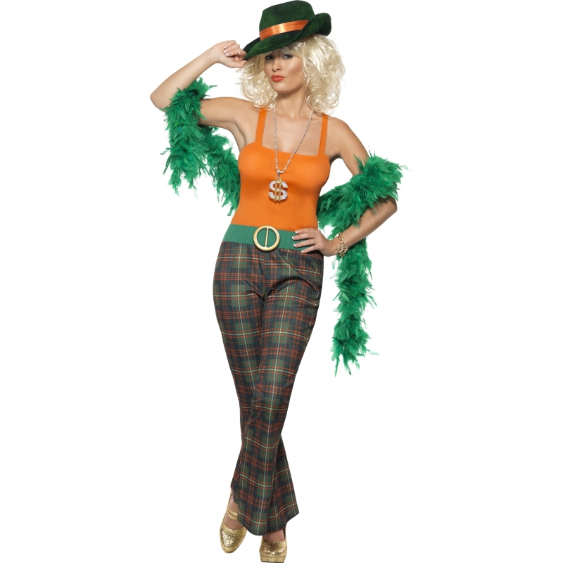 Pimpette gangster kostuum voor dames