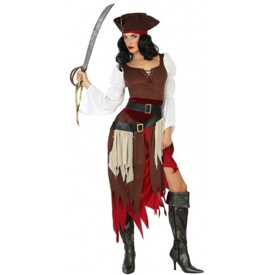Piraat Francis verkleed pak/kostuum voor dames