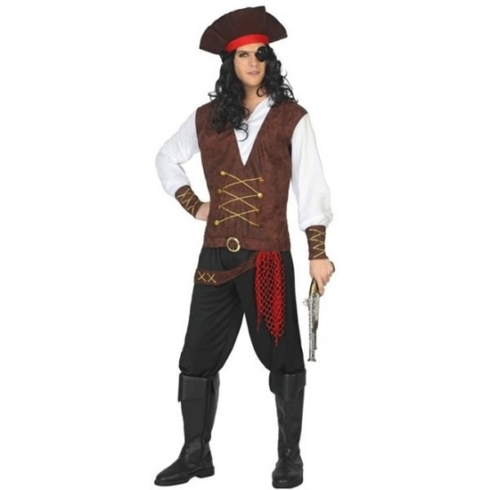 Piraat Lewis verkleed pak/kostuum voor volwassenen