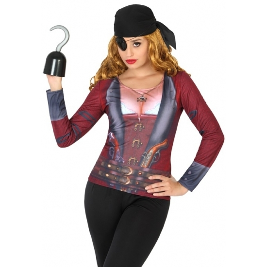 Piraat verkleed shirt voor dames