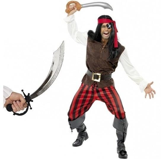 Piraten kostuum met zwaard maat M voor volwassenen