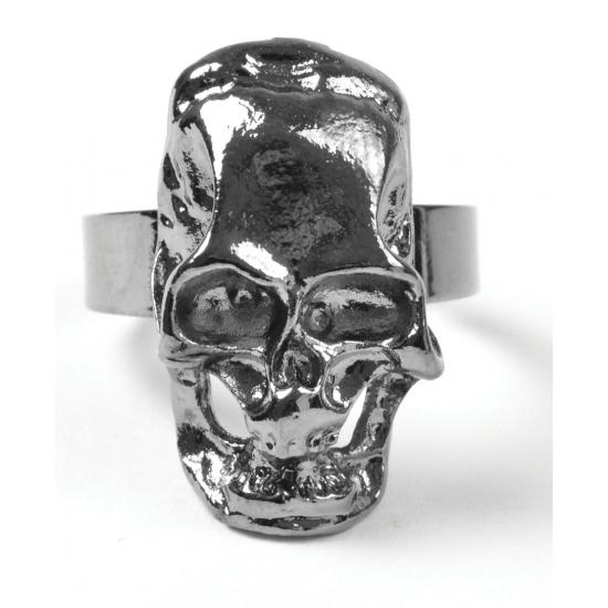 Piraten ring met schedel