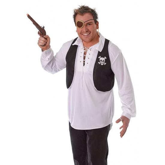 Piraten vest zwart met wit
