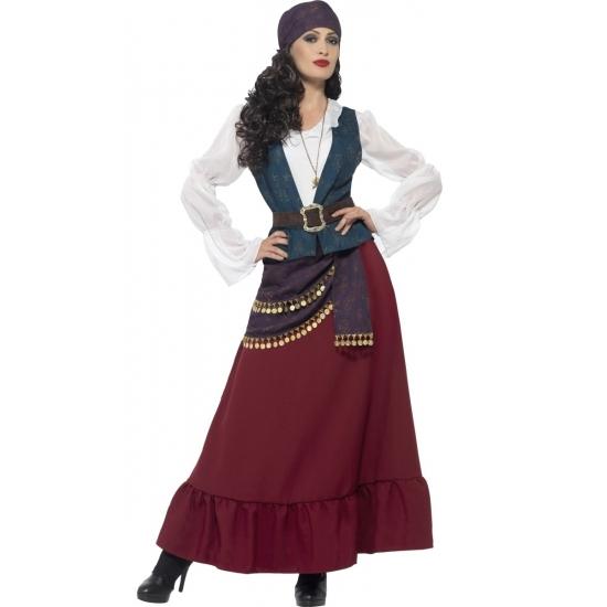 Piraten/zigeunerin verkleed kostuum/jurk voor dames