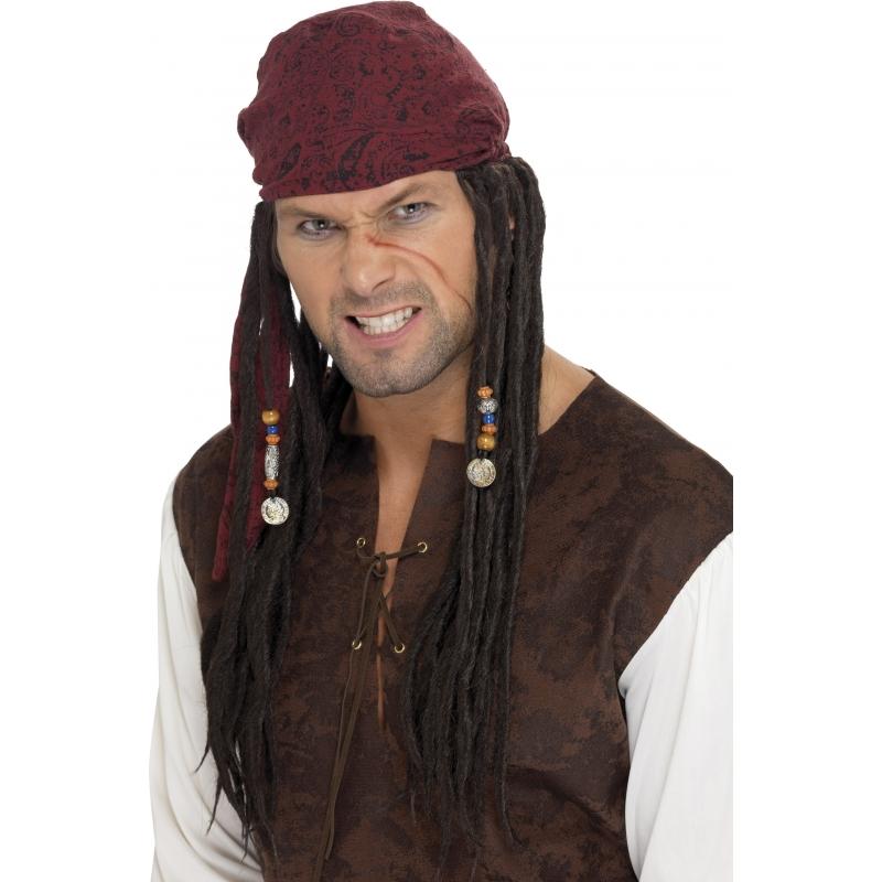 Piratenpruik Jack Sparrow