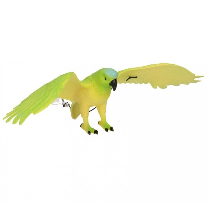 Plastic groene papegaai 33 cm Multi