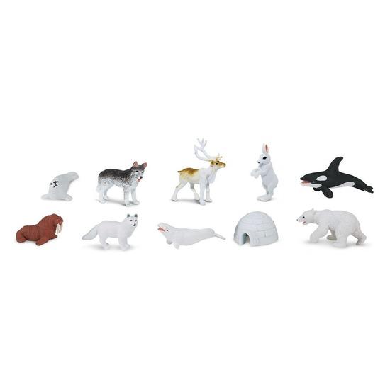 Plastic speelgoed figuren noord pool 10 stuks Multi