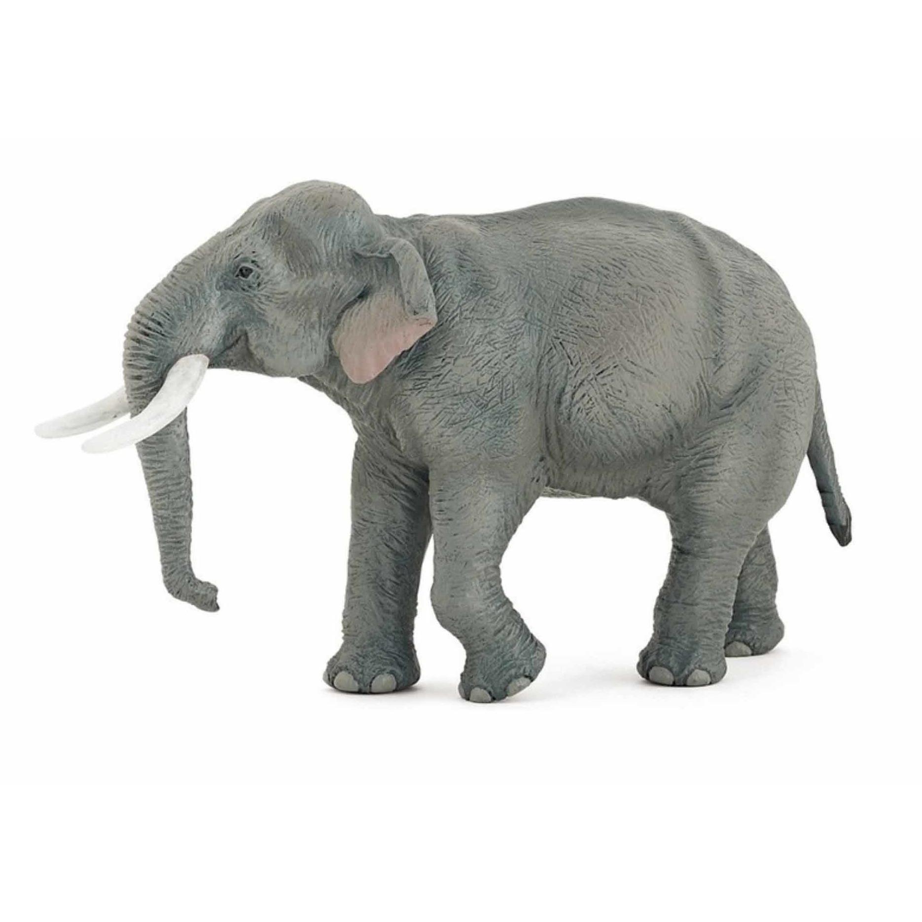 Plastic speelgoed figuur Aziatische moeder olifant 14.5 cm