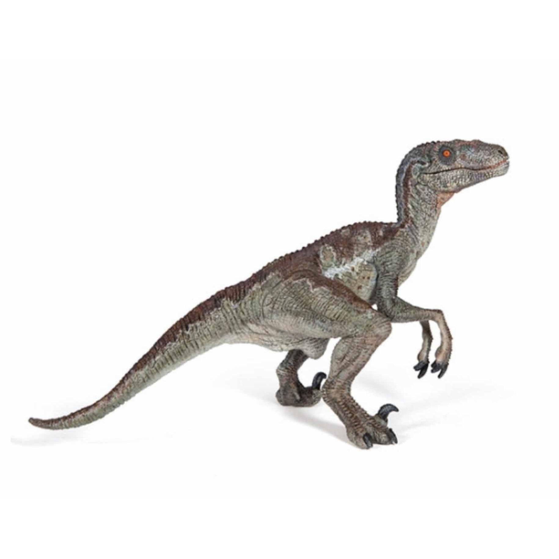 Plastic velociraptor dinosaurus 15 cm