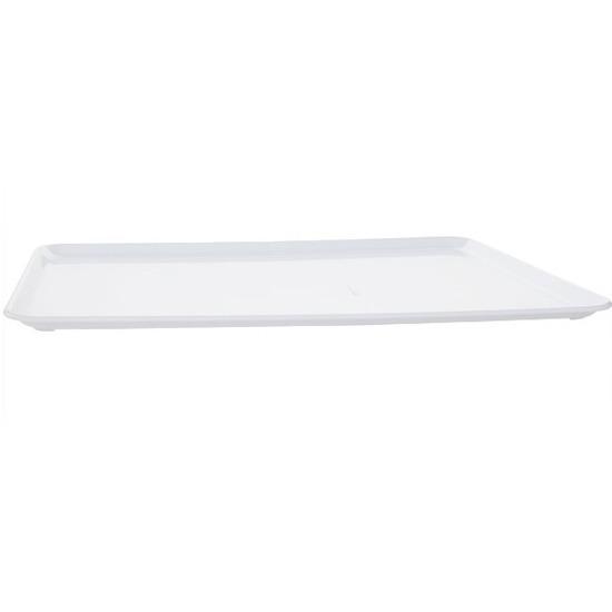 Plat dienblad wit kunststof 42 x 30 cm Wit