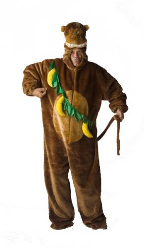 Pluche apenpak kostuum voor volwassenen