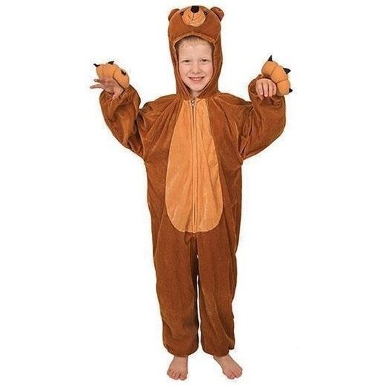 Pluche beer kostuum voor kinderen