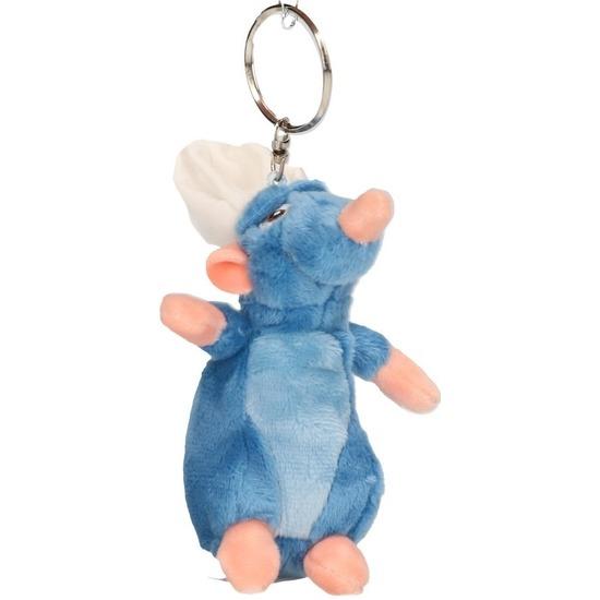 Pluche Disney Remy Ratatouille muis sleutelhanger/knuffel 10 cm Multi