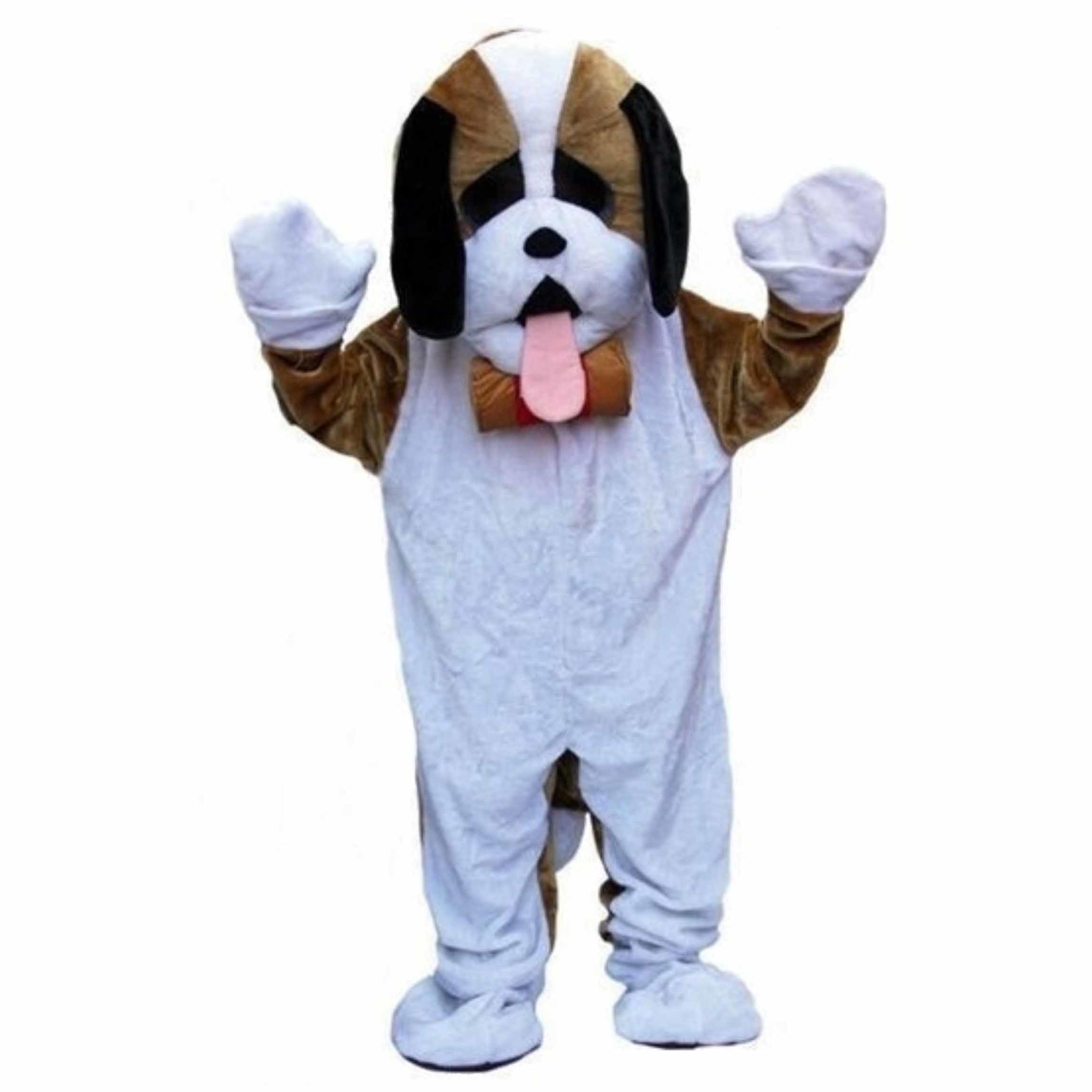 Pluche hond kostuum voor volwassenen
