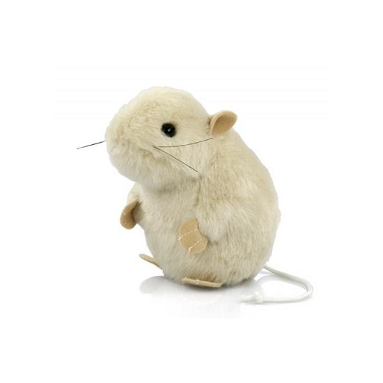 Pluche knuffel muis wit 13 cm