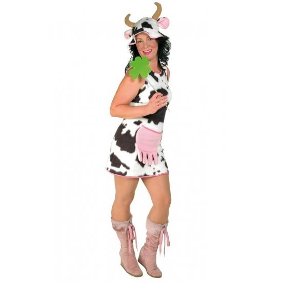 Pluche koe jurk voor dames