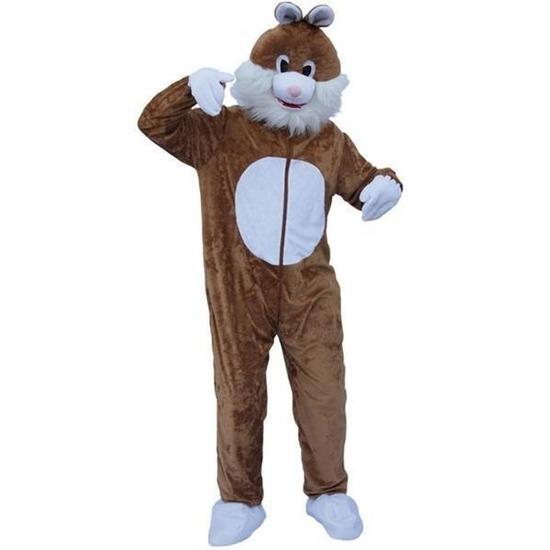 Pluche konijn kostuum bruin