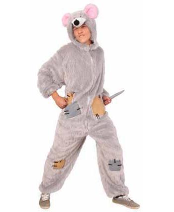 Pluche rat kostuum met rits