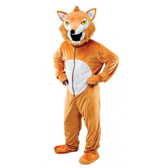 Pluche vos kostuum roodbruin