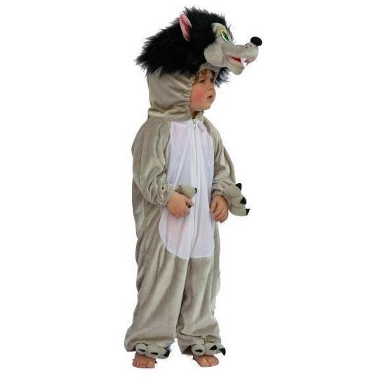 Pluche wolf kostuum voor kinderen