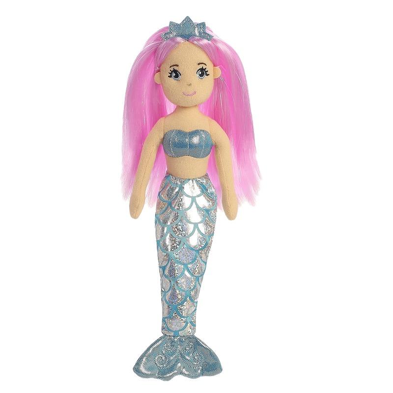 Pluche zeemeermin knuffel pop-poppen Crystal 25 cm