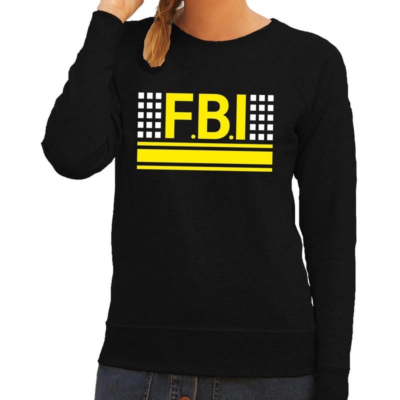 Politie FBI logo sweater zwart voor dames