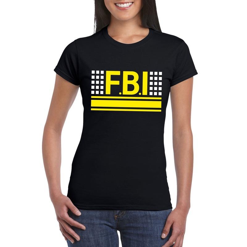 Politie FBI logo t-shirt zwart voor dames