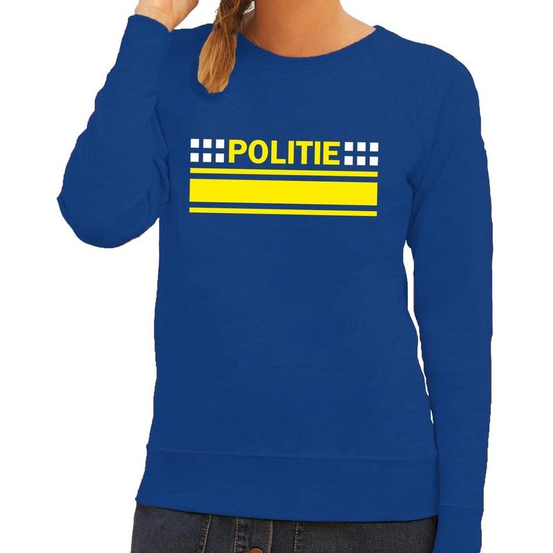 Politie logo sweater blauw voor dames