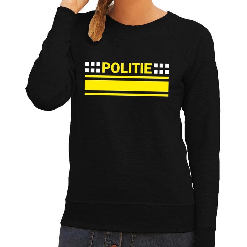 Politie logo sweater zwart voor dames