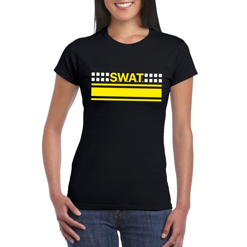 Politie SWAT team logo t-shirt zwart voor dames