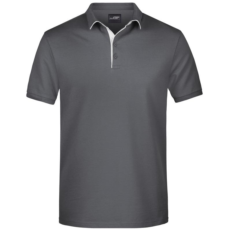 Polo shirt Golf Pro premium grijs/wit voor heren