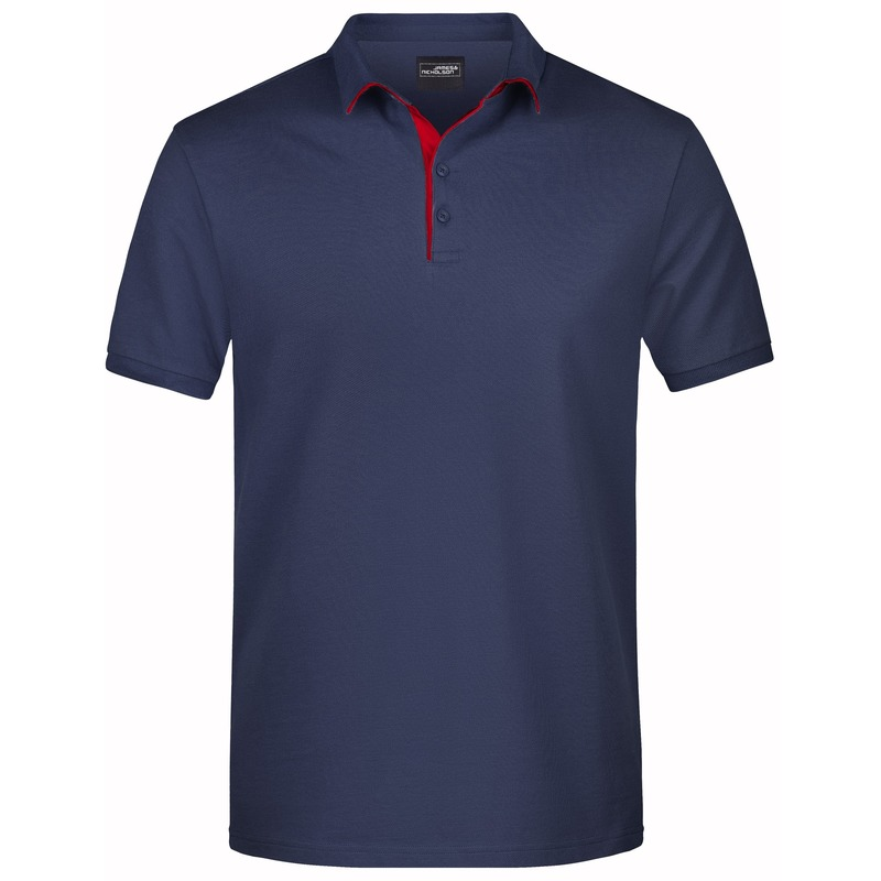 Polo shirt Golf Pro premium navy/rood voor heren