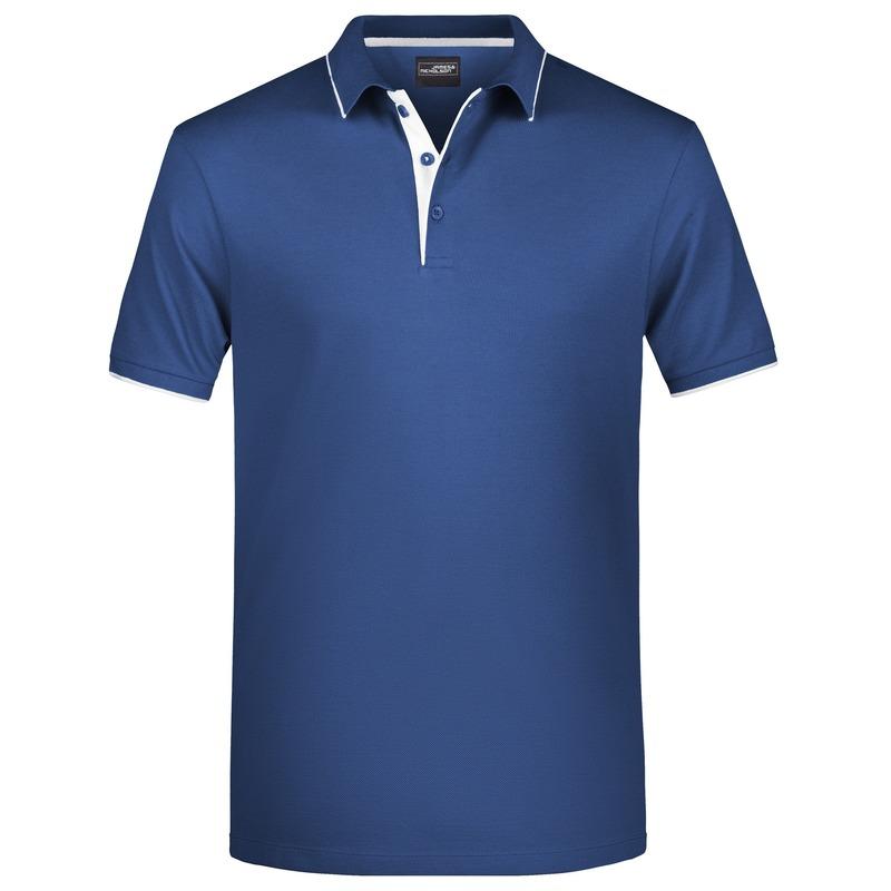 Polo shirt Golf Pro premium navy/wit voor heren