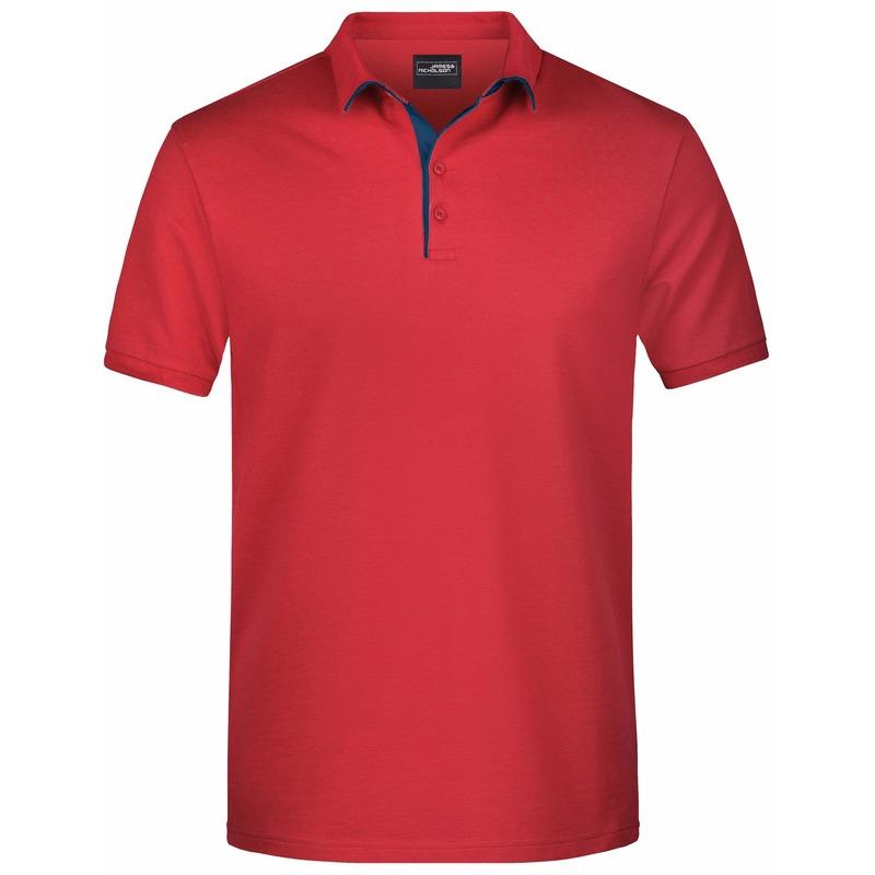 Polo shirt Golf Pro premium rood/navy voor heren